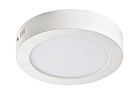 """Светодиодный LED светильник 6W """"круг"""" 6400К накладной d=120мм 420Lm Евросвет"""