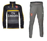 Спортивный костюм Puma, Арсенал (се, трерый). Футбольныйнировочный. Сезон 16/17
