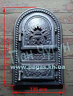 Дверка чугунная (Румынская №2) 330х530 мм, грубу, печи, барбекю, мангал, фото 1