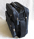 Мужская сумка через плечо портфель 8w2411 черная 29х24х16см, фото 3