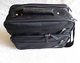 Мужская сумка через плечо добротный портфель  в2411 черная 29х24х16см, фото 4