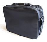 Мужская сумка через плечо добротный портфель  в2411 черная 29х24х16см, фото 6