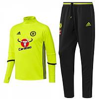 Спортивный костюм Adidas, Челси. Футбольный, тренировочный. Сезон 16/17 (реплика)