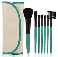 Набор кистей для макияжа MAKE-UP FOR YOU 7 штук в белом чехле