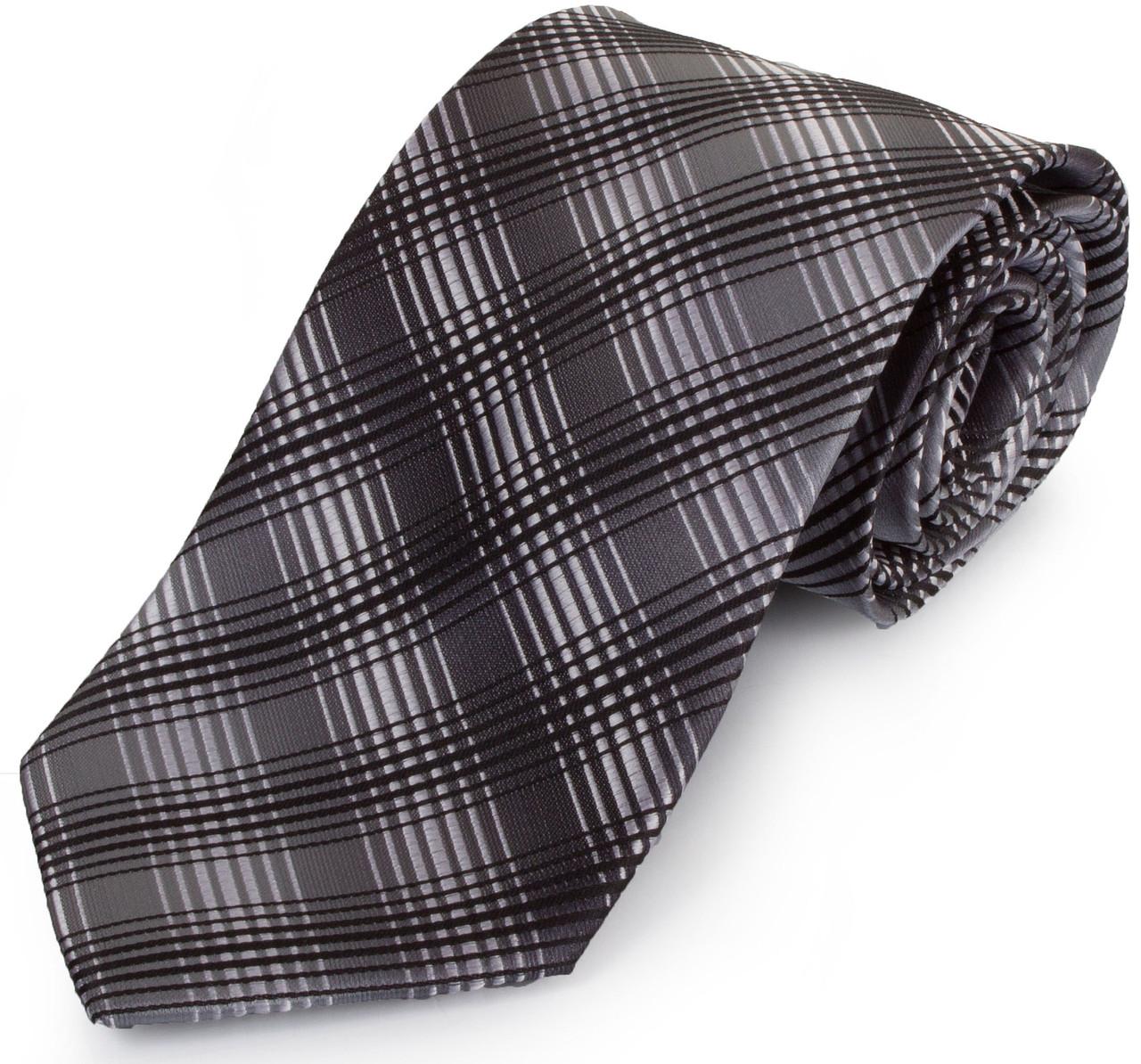 Актуальний чоловічий широкий галстук SCHONAU & HOUCKEN (ШЕНАУ & ХОЙКЕН) FAREPS-94 сірий
