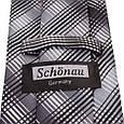 Актуальний чоловічий широкий галстук SCHONAU & HOUCKEN (ШЕНАУ & ХОЙКЕН) FAREPS-94 сірий, фото 3