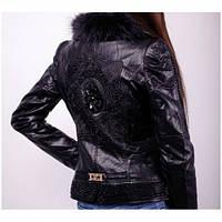 Куртка женская короткая кожзам на синтепоне 079,магазин курток