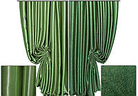 Ткань для штор блэкаут СОФТ зеленый  (двухсторонняя)