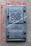 Дверка печная чугунная (спаренная) 270х490 мм, фото 1