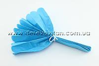 Помпон из тишью, голубой, 25 см