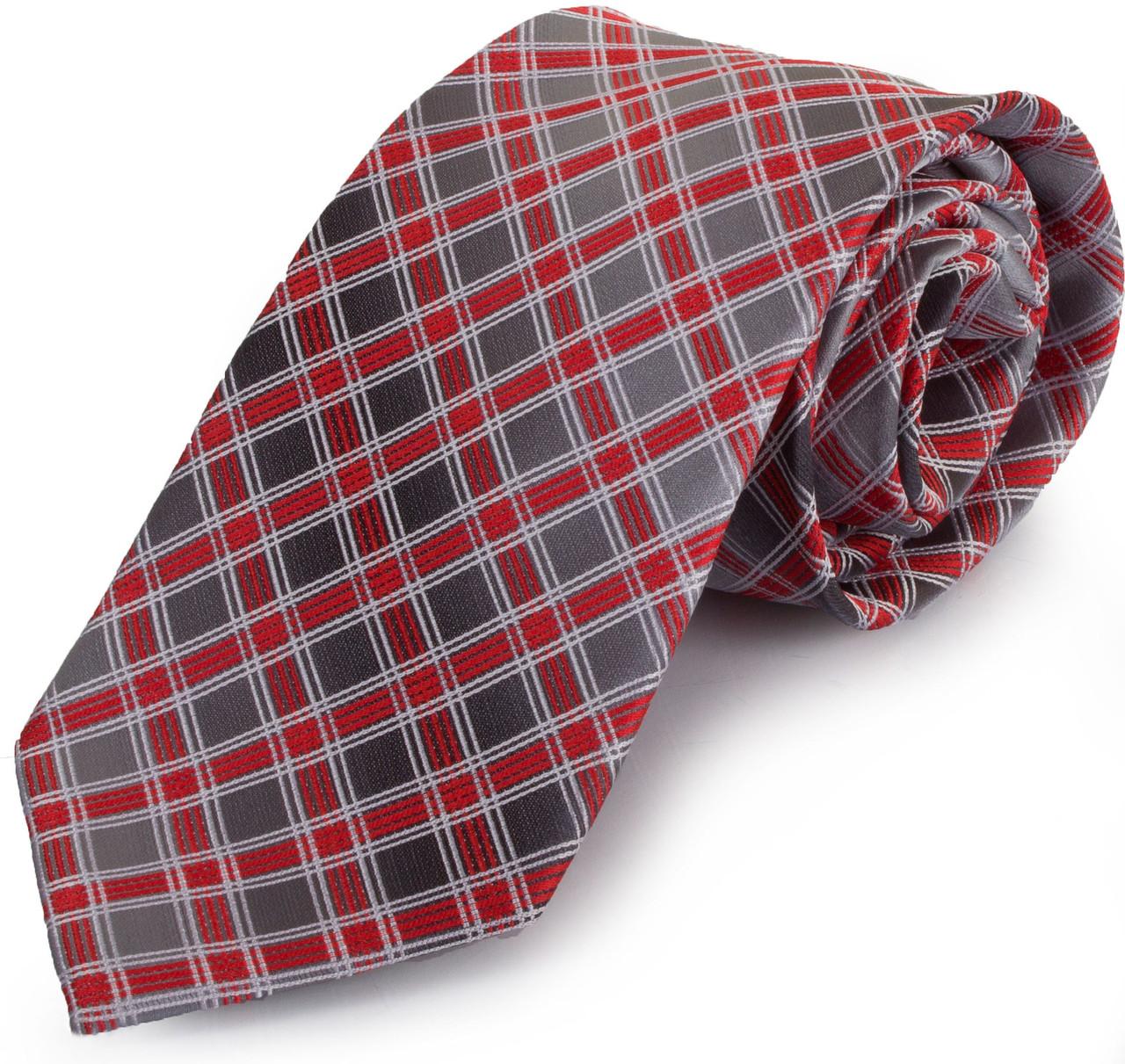 Симпатичний чоловічий широкий галстук SCHONAU & HOUCKEN (ШЕНАУ & ХОЙКЕН) FAREPS-96 червоний