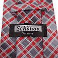 Симпатичний чоловічий широкий галстук SCHONAU & HOUCKEN (ШЕНАУ & ХОЙКЕН) FAREPS-96 червоний, фото 3