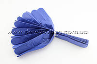 Помпон из тишью, синий, 25 см