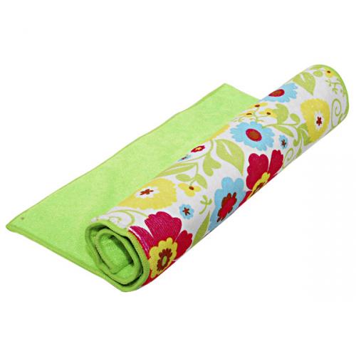Полотенце-подкладка для сушки посуды Цветы 50х36 см