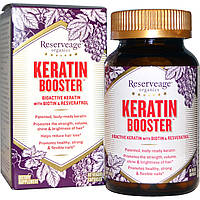 Кератиновый комплекс с биотином и ресвератролом для волос и ногтей, ReserveAge, 500 мг, 60 капсул