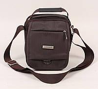 Текстильная мужская сумка Gorangd  коричневого цвета