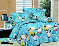 Комплект детского постельного белья подростковый Пингвины