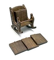 Кресло подстаканник из дерева