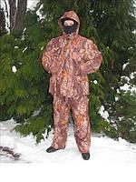 Зимний костюм для рыбалки расцветка Лес , утепленный , рыбалка, комплектующее