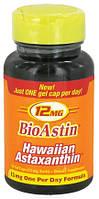 Nutrex Hawaii, BioAstin, Гавайский астаксантин, 12 мг, 50 гелевых капсул
