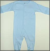 Хлопковый человечек на мальчика голубого цвета, 0-3 мес.