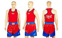 Форма боксерская ELAST VL-3061-R (PL, р-р S-L, майка-красный, шорты красный-синий)