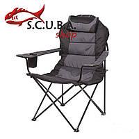Кресло складное «Мастер карп» для рыбалки и туризма, цвет ткани серый