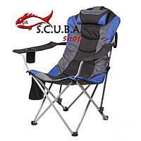 Кресло складное «Директор» для рыбалки и туризма, цвет ткани синий