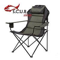 Кресло складное «Мастер карп» для рыбалки и туризма, цвет ткани зеленый