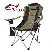 Кресло складное «Директор» для рыбалки и туризма, цвет ткани зеленый
