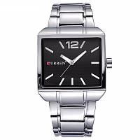 Мужские часы CURREN 8123 Silver & Black серебристо-черные