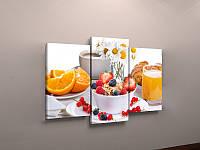 Фотокартина модульная для кухни фрукты апельсины
