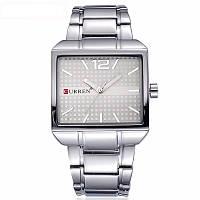 Мужские часы CURREN 8123 Silver & White серебристо-белые