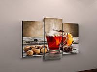 Фотокартина модульная для кухни чай гвоздика