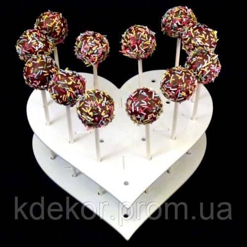 Сердце подставка для конфет, тортов,капкейков (высота 5см.) заготовка для декупажа и декора