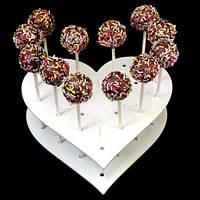 Сердце подставка для конфет, тортов,капкейков (высота 5см.) заготовка для декупажа и декора, фото 1