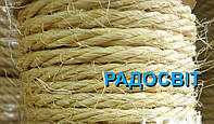 Мотузка сизальова Ø28мм, бухта 25 метрів
