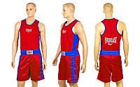 Форма боксерская ELAST VL-3062-R(M)-STAR (PL, р-р M, майка-красный, шорты красный-синий)