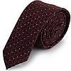 Оригинальный мужской узкий галстук SCHONAU & HOUCKEN (ШЕНАУ & ХОЙКЕН) FAREPY-07 бордовый