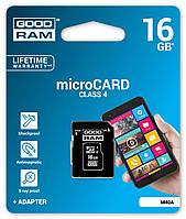 MicroSDHC 16Gb Good Ram (4class) with adapter, фото 1