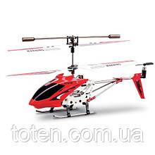 Вертолет на радиоуправлении металл каркас, четкое управление, юсб зарядка/от пульта Красный Syma 107G