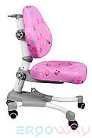 Детское компьютерное ортопедическое кресло растишка Ergoway M350 Pink+Gray