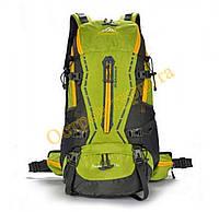 Рюкзак туристический спортивный городской вело JINSHIWEIQI 262 45L салатовый