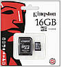 MicroSDHC 16Gb Kingston (10class) with adapter