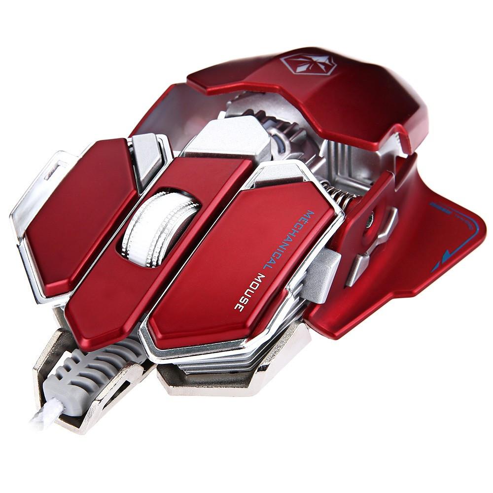 Игровая геймерская металлическая мышь Luom G10 красная