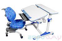 Комплект Детская парта растишка трансформер Ergoway T350M + кресло M350 Blue + ПОДАРКИ
