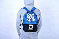 Рюкзак спортивный Converse голубой/черный / Converse