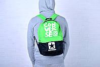 Рюкзак молодежный Converse салатовый/черный /Converse