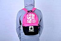 Рюкзак молодежный Converse розовый/черный / Converse