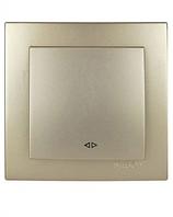 Выключатель 1-клавишный перекрёстный (Touran- золотой) /Nilson